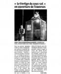 Article de presse sur le Vertige du Sous-Sol